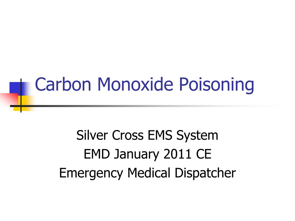 carbon monoxide poisoning l.
