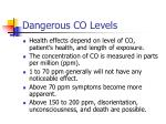dangerous co levels