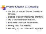 winter season co causes