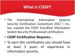 what is cissp