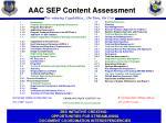 aac sep content assessment
