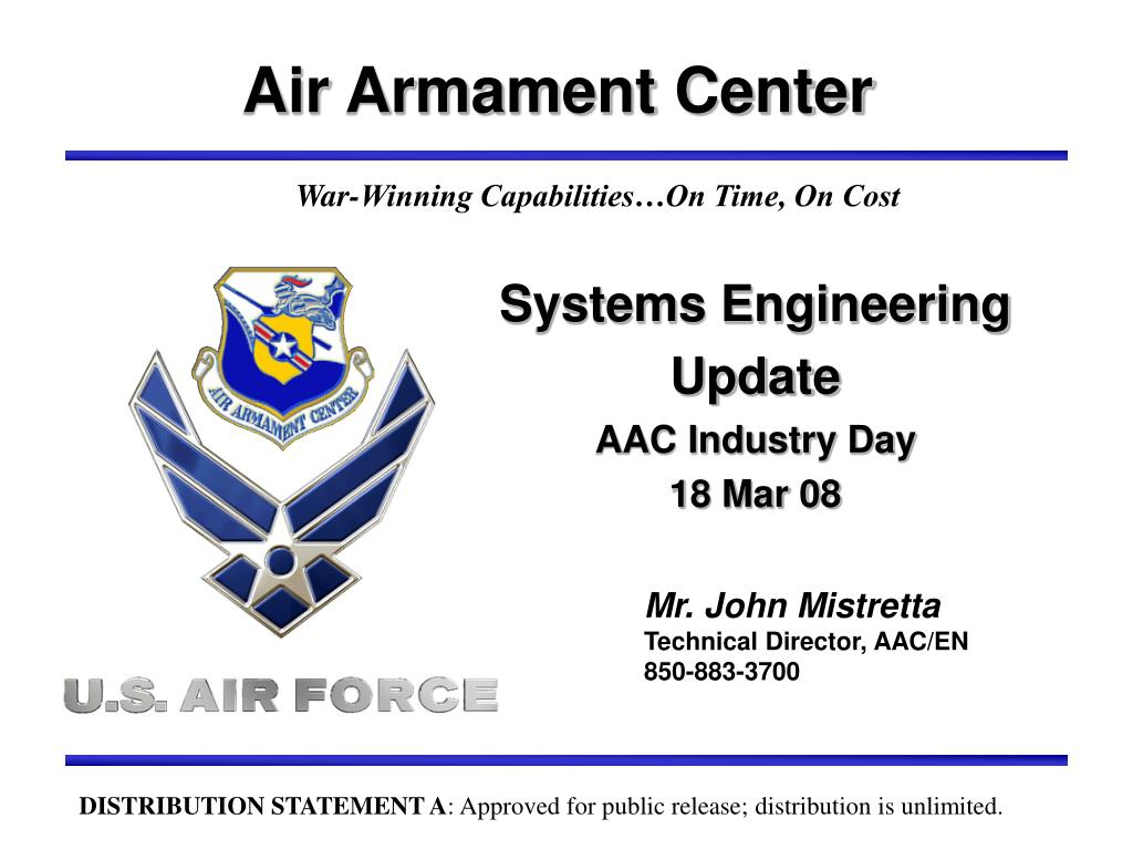 systems engineering update aac industry day 18 mar 08 l.