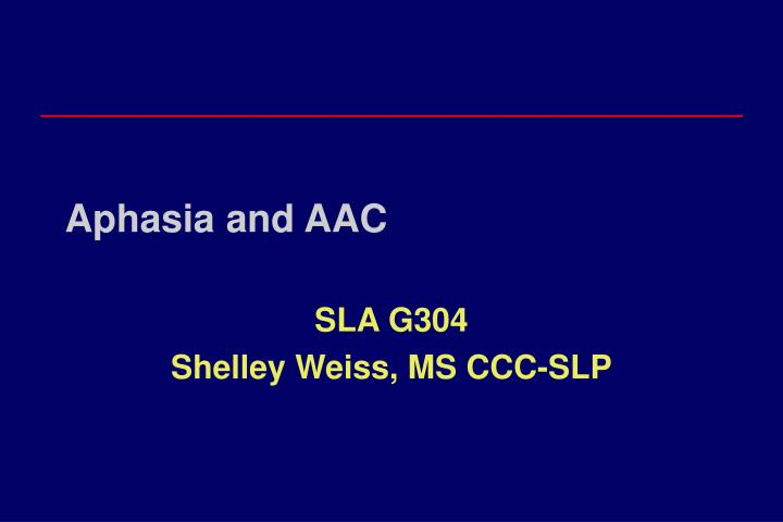 aphasia and aac n.