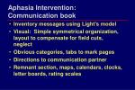 aphasia intervention communication book