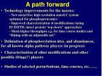a path forward