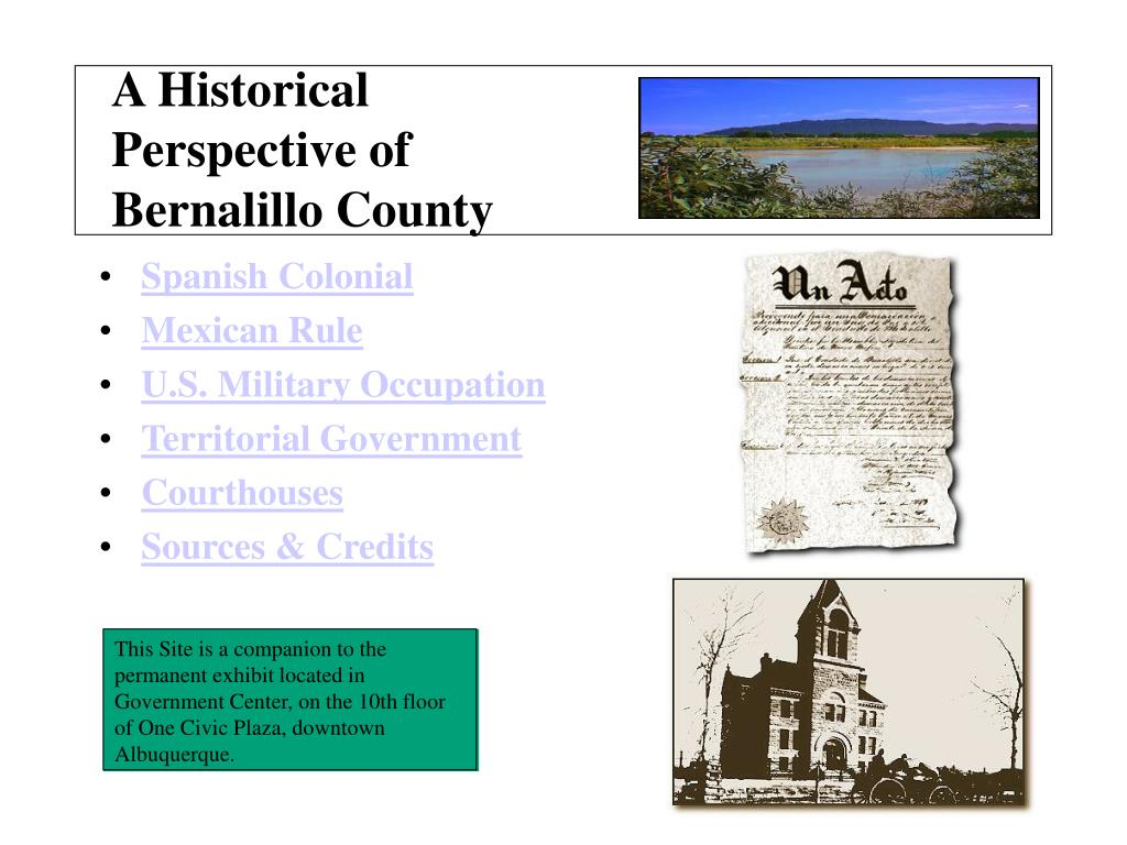 a historical perspective of bernalillo county l.