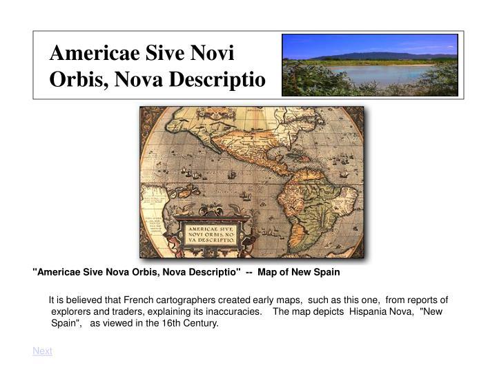 Americae sive novi orbis nova descriptio