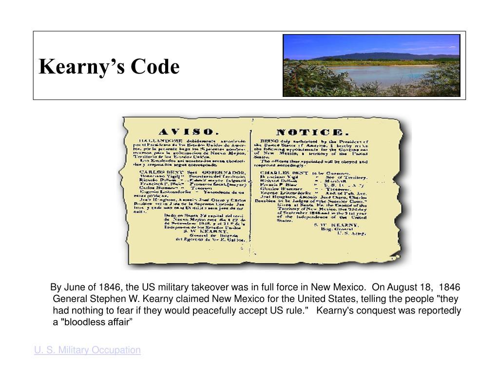Kearny's Code