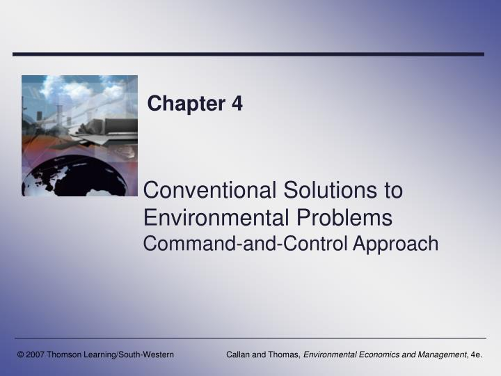conventional solutions to environmental problems command and control approach n.