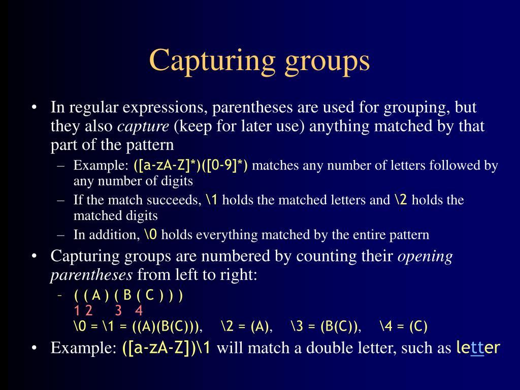 Capturing groups