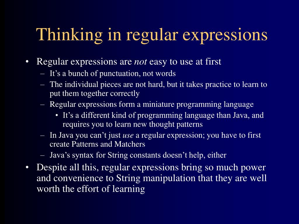 Thinking in regular expressions