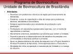 programa de bovinocultura unidade de bovinocultura de brasil ndia71
