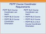 pepp course coordinator requirements