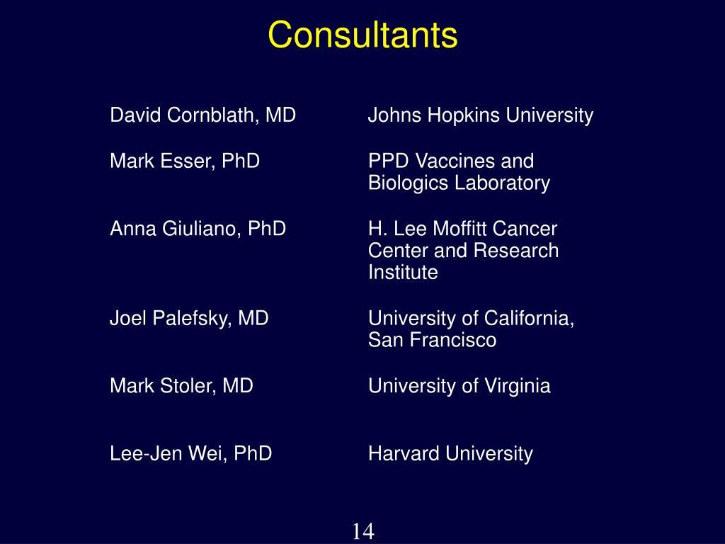 David Cornblath, MDJohns Hopkins University