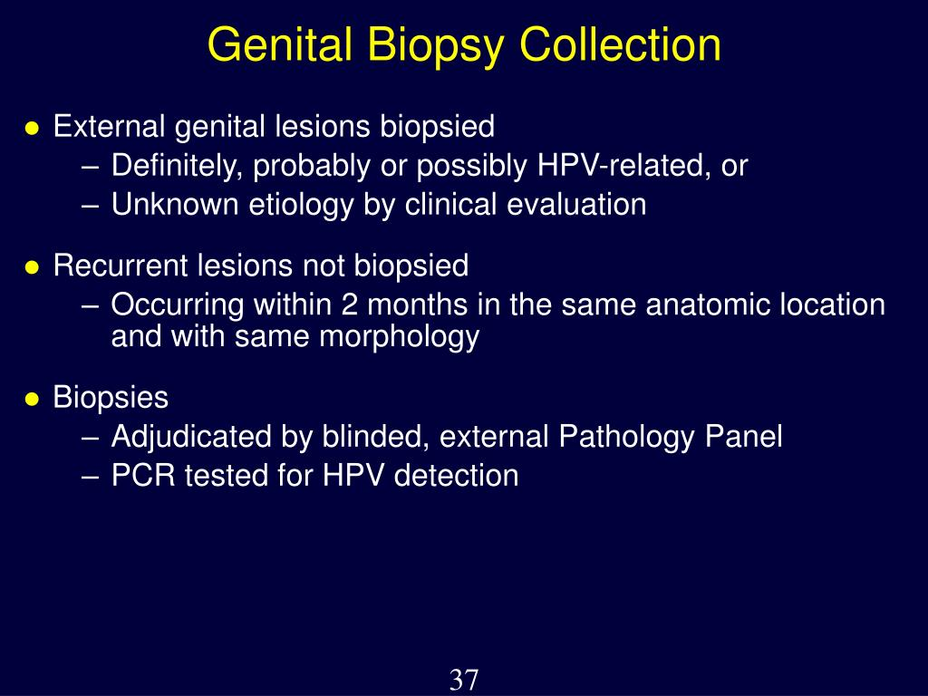 Genital Biopsy Collection