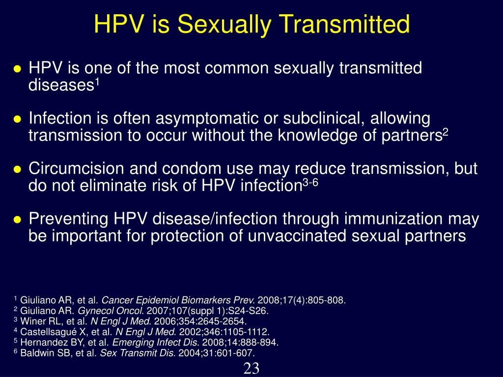 HPV is Sexually Transmitted