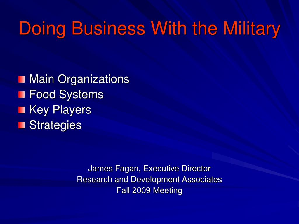 doing business with the military l.