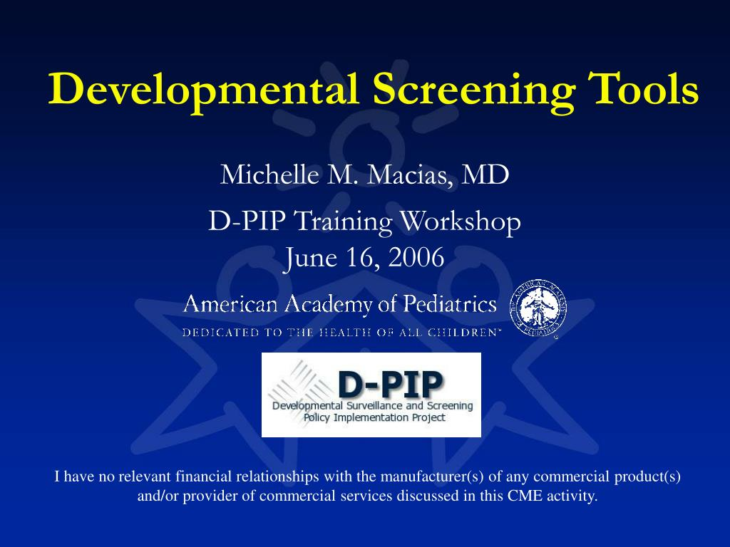 developmental screening tools l.
