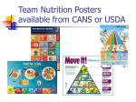 team nutrition posters available from cans or usda