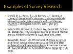 examples of survey research