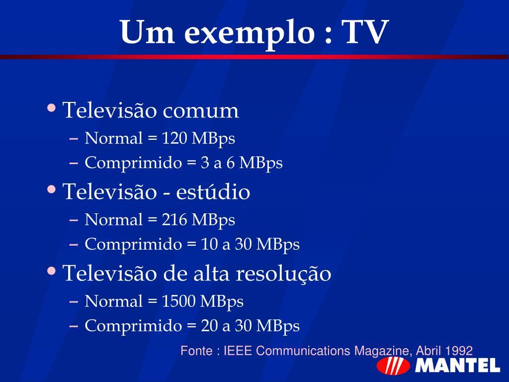 Um exemplo : TV