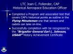ltc joan c follender cap historical aerospace education officer