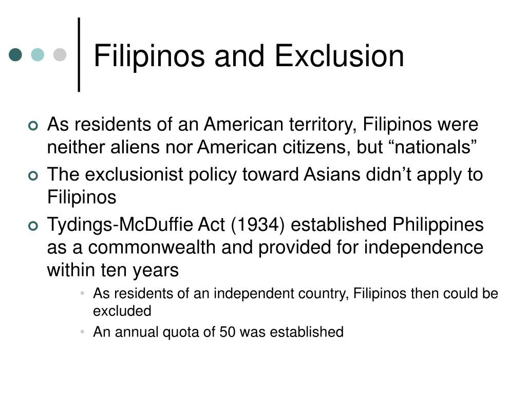 Filipinos and Exclusion