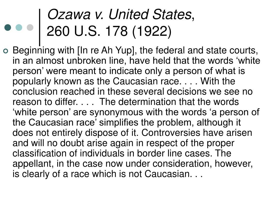 Ozawa v. United States