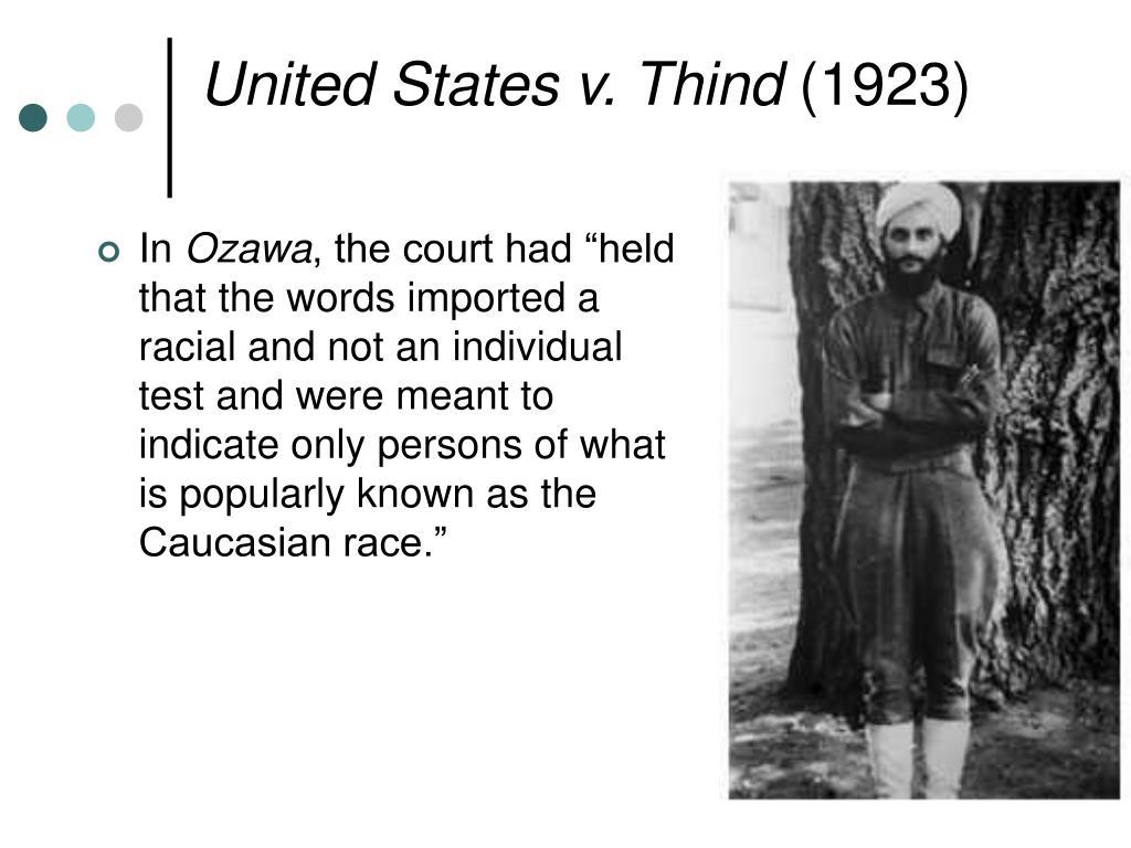 United States v. Thind