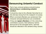 denouncing unlawful conduct