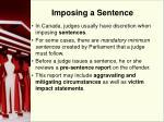 imposing a sentence