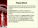 peace bond
