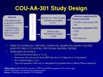 cou aa 301 study design