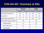cou aa 301 summary of aes