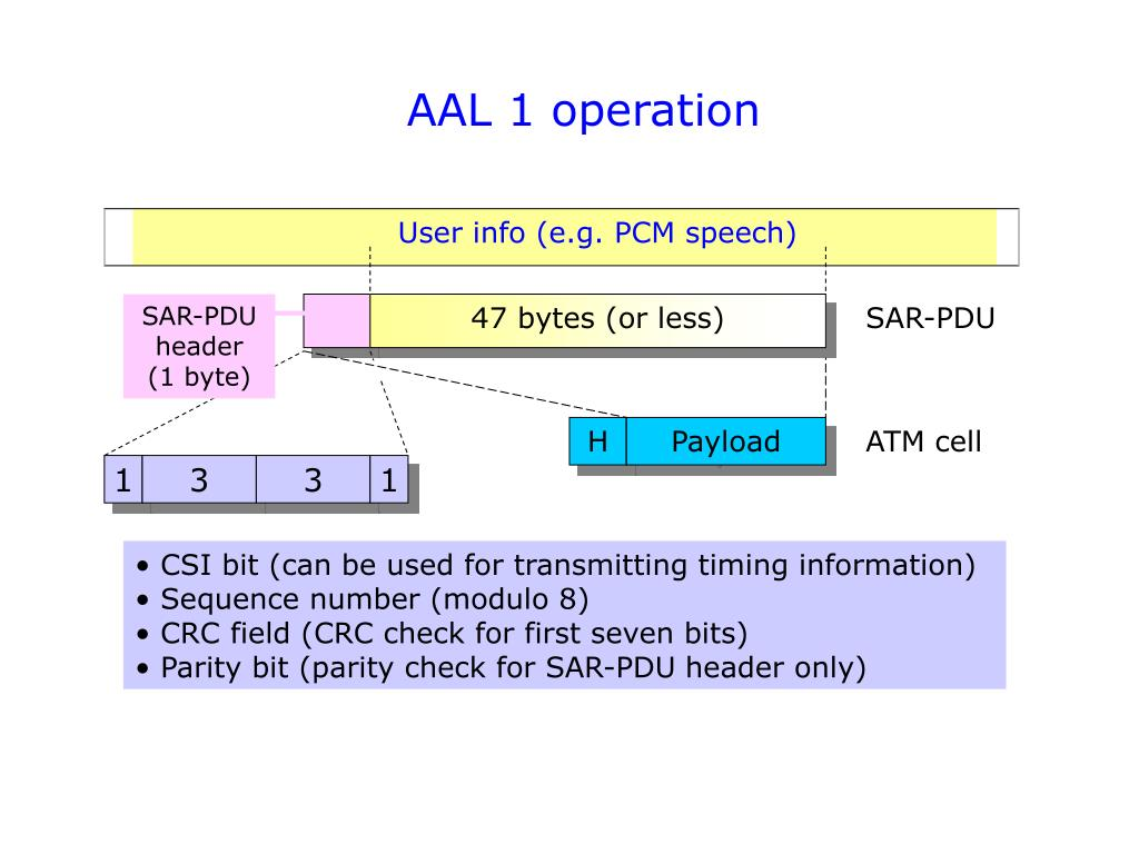 AAL 1 operation