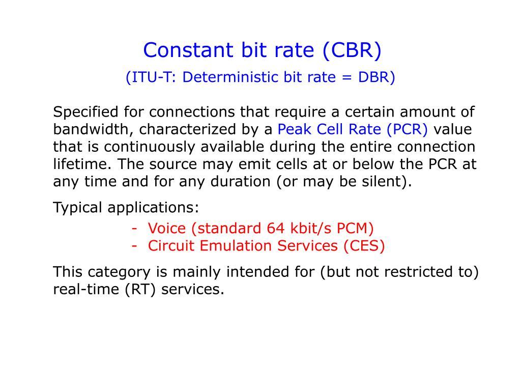 Constant bit rate (CBR)
