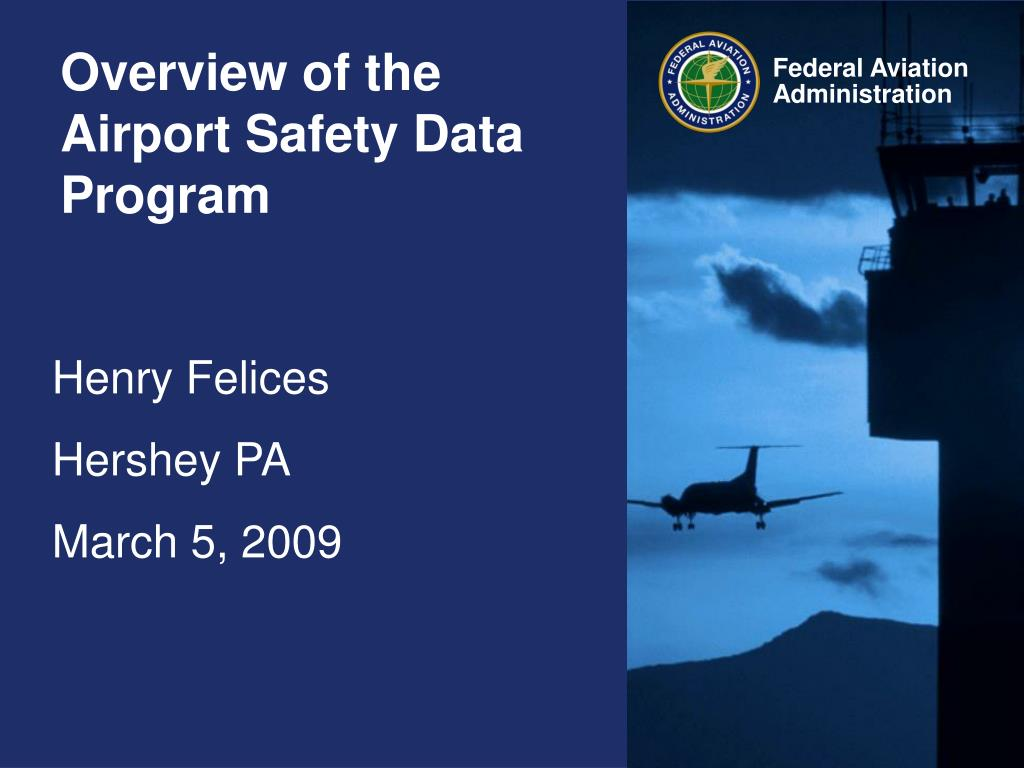 overview of the airport safety data program l.