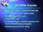 141 arw suicide