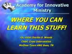 academy for innovative ministry