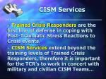 cism services