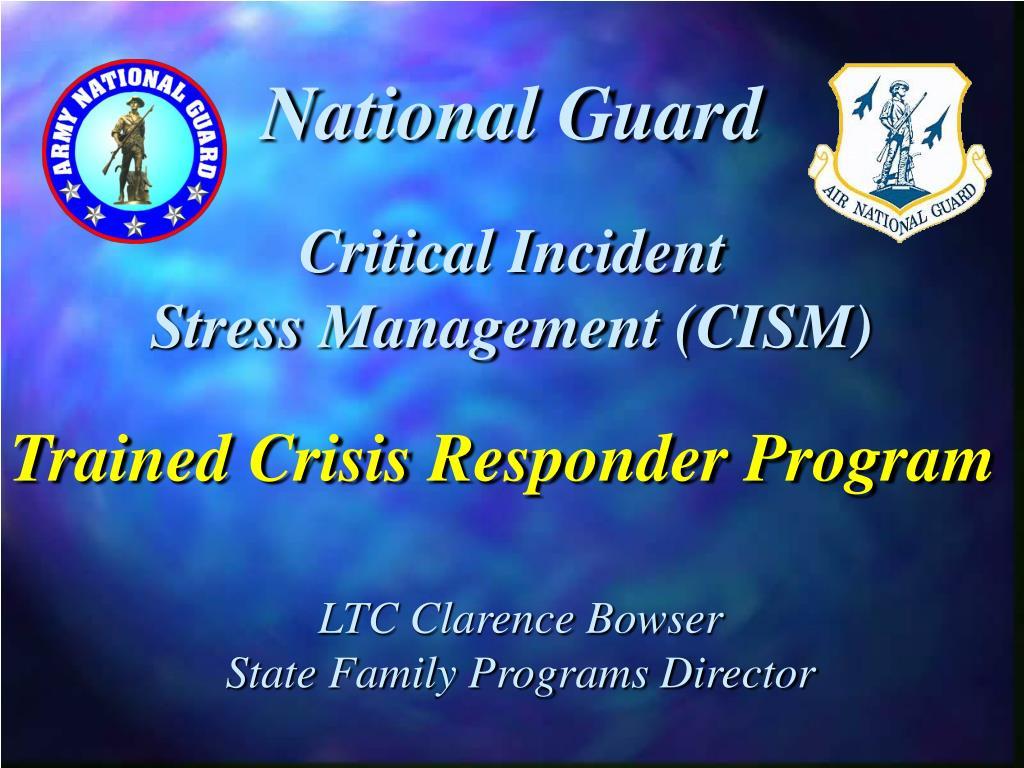 critical incident stress management cism l.