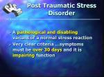 post traumatic stress disorder17
