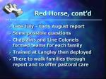 red horse cont d