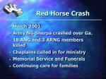 red horse crash