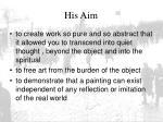 his aim