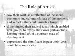 the role of artists