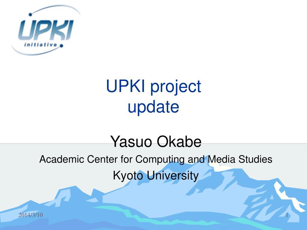upki project update l.