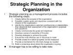 strategic planning in the organization