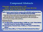 compound abstracts