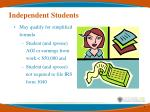 independent students7
